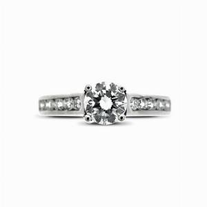 Brilliant Cut Single Stone Diamond Ring 0.62ct G VS1 GIA